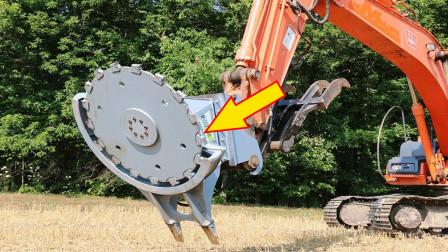 """这是什么""""开挂的""""设计?挖掘机装了这个机械,干起活来飞快"""