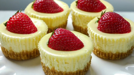 草莓鸡蛋糕家常做法,松软香甜,无水无油,孩子老人都能适合真甜