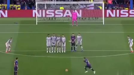 有多无解!多角度回看梅西完美任意球,没有再刁钻的角度了