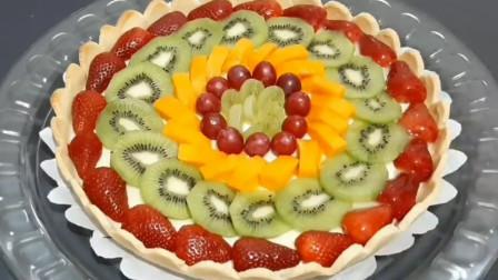 面点师教《水果蛋糕》家常做法,做法简单,营养美味更健康特好吃