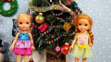 小公主礼物,圣诞老人愿望清单,漂亮的圣诞树装饰!
