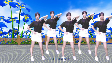 DJ热门广场舞《火火的爱》动感扭胯扭腰舞,好听又好看(1)
