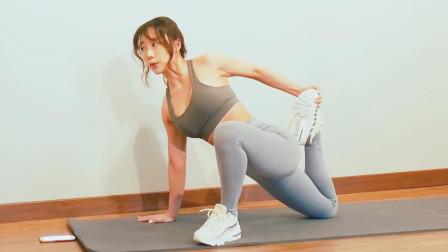 四分钟腿部拉伸运动,从大腿到小腿,全方位激活腿部肌群