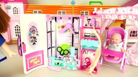 婴儿娃娃蛋糕和甜甜圈车玩具,烹饪食品玩具