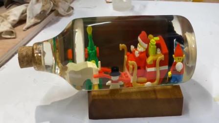国外大叔制作圣诞节创意摆件,成品让人惊艳,网友:我也想要
