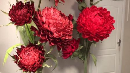 小姐姐在家用纸做花卉,成品太惊艳,网友:手残党也想拥有