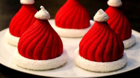 圣诞帽子蛋糕是怎么制作的呢?特调酱汁结合酥脆饼干,成品让人惊艳
