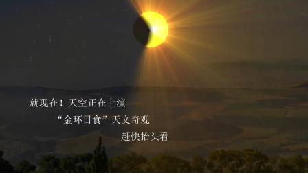 """就现在抬头看!""""金环日食""""现在正在上演,中国全境可看"""