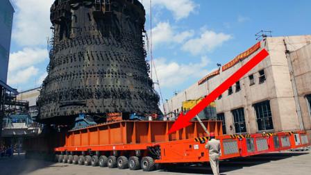 """中国打造世界""""最牛""""运输车,载重50000吨1152个车轮,美印抢着购买!"""