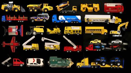 厢式货车罐装车消防云梯玩具展示
