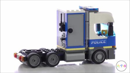 乐高积木城市消防系列消防车CITY城市2020新款警用直升机运输车60244