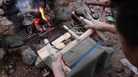自制生存传统木工锯对比先进折叠锯,到底哪个效率高?
