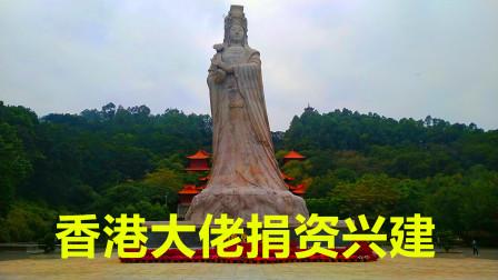 广州最大的妈祖雕像,由大佬霍英东捐资兴建,保佑着人民风调雨顺