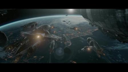 一部科幻电影,德军从月球坐着飞碟攻打美国,战斗激烈