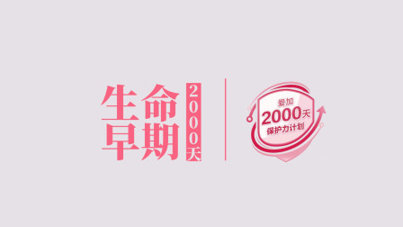 爱加2000天保护力计划