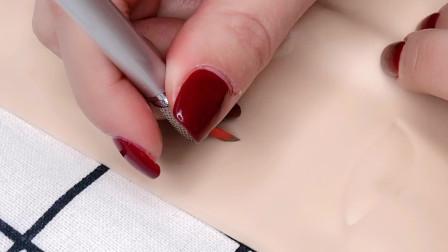 纹绣线条针操作使用手法演示讲解,半永久纹眉基础知识分享