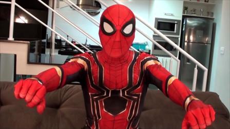 亲子版蜘蛛侠,和小朋友扮演各种角色