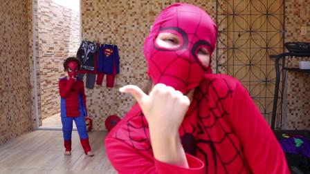 蜘蛛侠换装真人秀,这场景太温馨了!