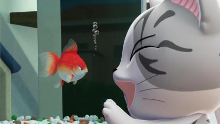 《甜甜私房猫》小奇想吃掉金鱼吗