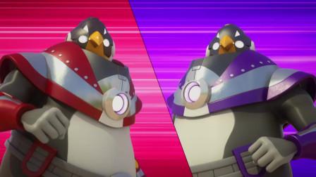 迷你特工队 被黑暗力量变强大企鹅兄弟 觉得自己的名声变大了 酷酷的
