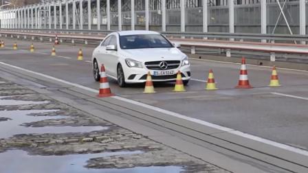 奔驰刹车片极限测试,副厂件跟原厂件完全两码事
