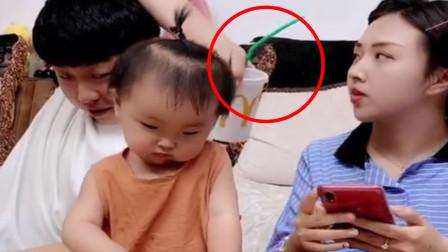 奶爸背着闺女偷喝饮料,不料却被宝宝发现,接下来一幕令众人笑喷