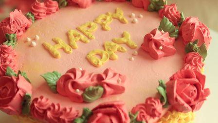 【bakinghyang】复古奶油霜蛋糕 | Butter cream cake Decorating videos