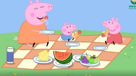 蜜蜂追着猪爸爸的草莓蛋糕不放