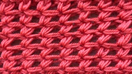 一款精致漂亮的小花朵,织法简单,织背包和围巾真不错编织教学视频