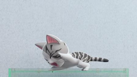 甜甜私房猫:猫咪和宠物鱼吵架了