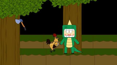 迷你世界动画第18集:迷斯拉一只恐龙打不赢一只战斗鸡?