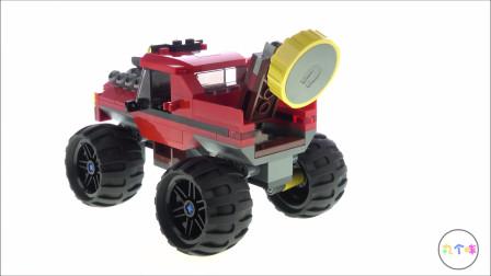 LEGO乐高积木城市消防系列60245巨轮越野车大劫案开箱(20新品)