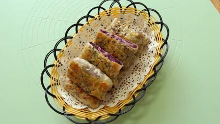 紫薯芝士手抓饼最简单做法,又香又甜有拉丝,比蛋糕还好吃