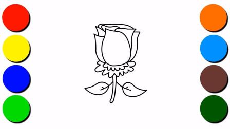 儿童简笔画玫瑰花的画法 如何画简单的玫瑰花简笔画 亲子互动视频