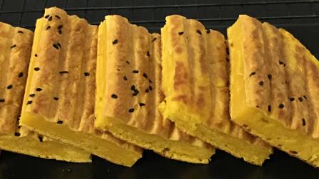 1块南瓜,1个鸡蛋,筷子搅一搅,大锅一烙,松软可口,比面包好吃