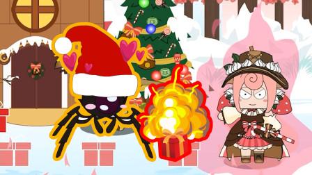 迷你世界格斗动画第175集:新角色慕斯用圣诞礼物炸蜘蛛