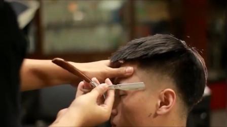 男生不想烫发 想剪一款短发 理发师给他设计了一款个性飞机头
