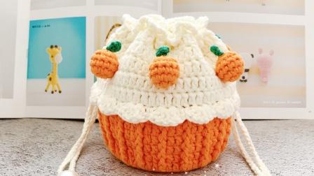 194集【白兔糖手工馆】小橘子纸杯蛋糕包之小橘子的钩针编织视频教程编织花样大全图