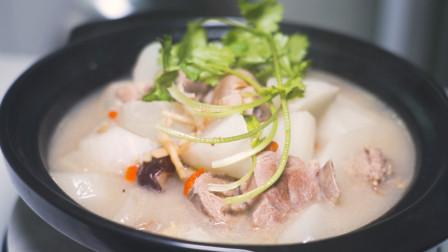 羊肉汤怎么才能炖得又白又浓?看下川菜师傅是怎么做的,太香了