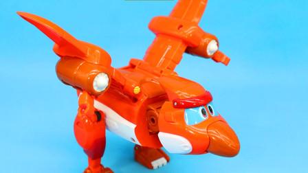 帮帮龙出动风神翼龙大洛 恐龙探险队发声变形玩具