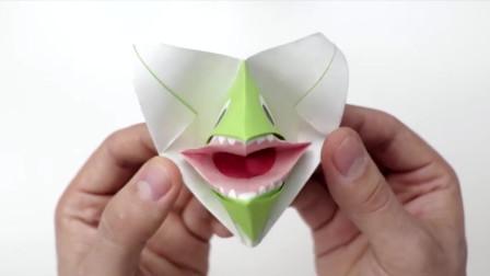 宝宝学折纸:会张嘴的鲨鱼折纸教程,你学到了吗?