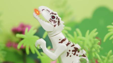 亲宝恐龙世界乐园儿歌:我是霸王龙玩具版 小朋友们来看看凶猛的霸王龙吧