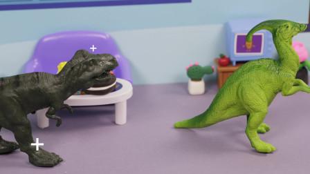 亲宝恐龙世界乐园儿歌:不要吃掉我玩具版 小朋友们知道恐龙也会被吃掉吗