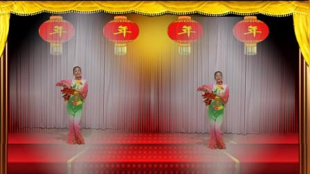 香遇广场舞《新年一起旺》原创背面、附分解