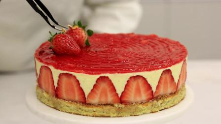 法式草莓蛋糕Fraisier:慕斯林奶馅让它有别于普通草莓蛋糕