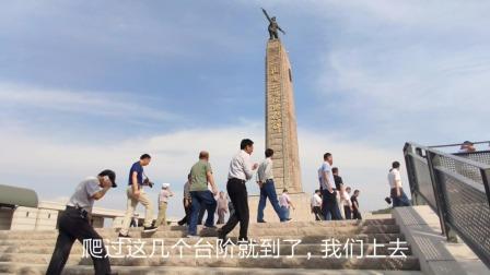 小伙山东枣庄旅游,看铁道游击队纪念碑,不忘记英雄!