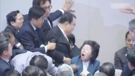 韩国议会又打起来了,最大在野党试图阻止《选举法》修订案