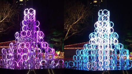 大连·劳动公园 动感灯光玲珑塔
