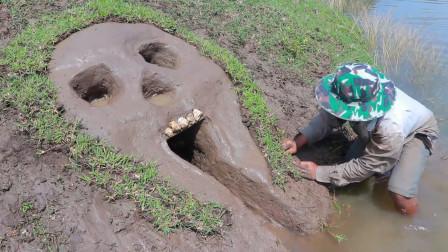 男子河边挖了一个骷髅头捕鱼20分钟后收获意外的惊喜