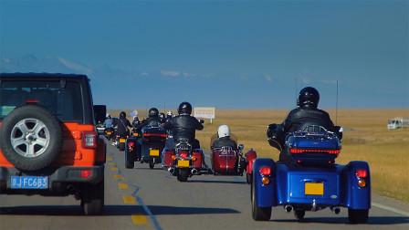 《最燃之路》独库公路第三集!80多万的哈雷摩托车,我遇到了一群-JSFamily集视家